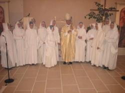 Bethlehemschwestern im Kloster Marienheide mit Bischof Algermissen