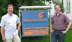 Franz Wasensteiner (li.) und Pater Stefan Stöhr SDB (re.)