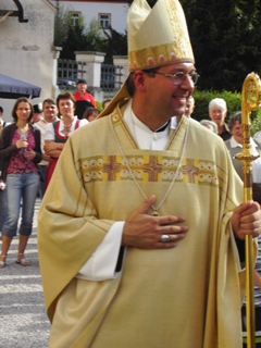 Abt Markus Eller nach der Weihe
