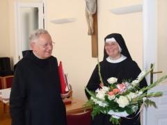 Generalpriorin Helene Binder mit Altabt Christian Schütz