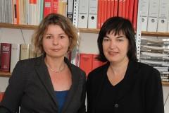Julia Zinsmeister und Petra Ladenburger