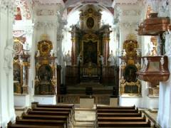 Klosterkirche Speinshart Blick zum Hochaltar